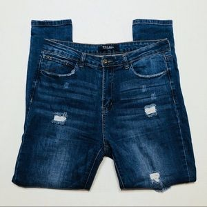 Wax Jean Los Angeles Distressed Skinny Jeans